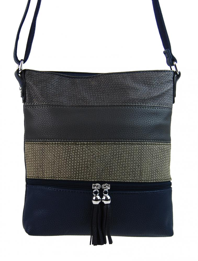 Crossbody dámská kabelka 3226-BB modrá