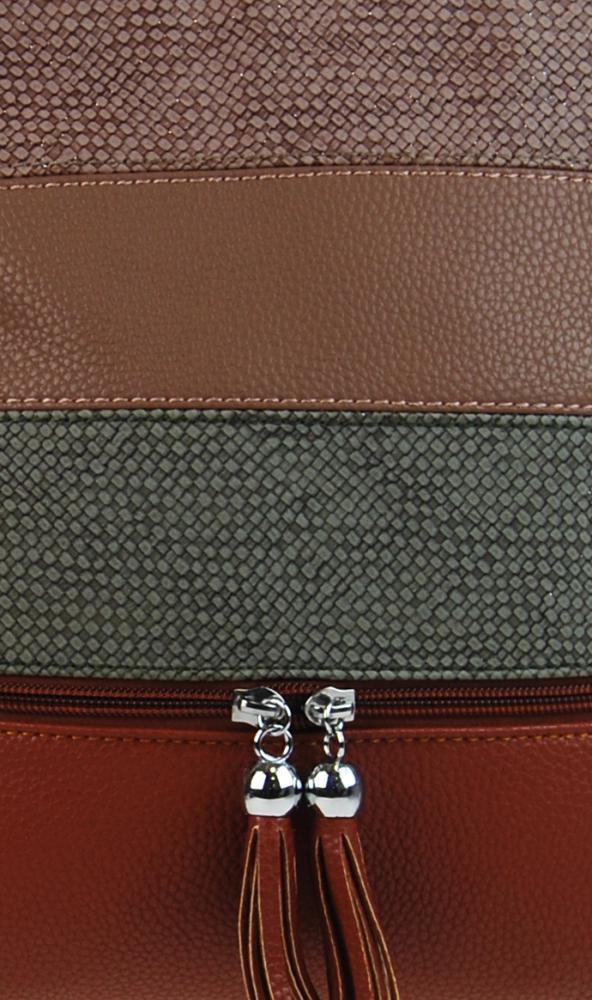 Crossbody dámska kabelka 3226-BB hnedá