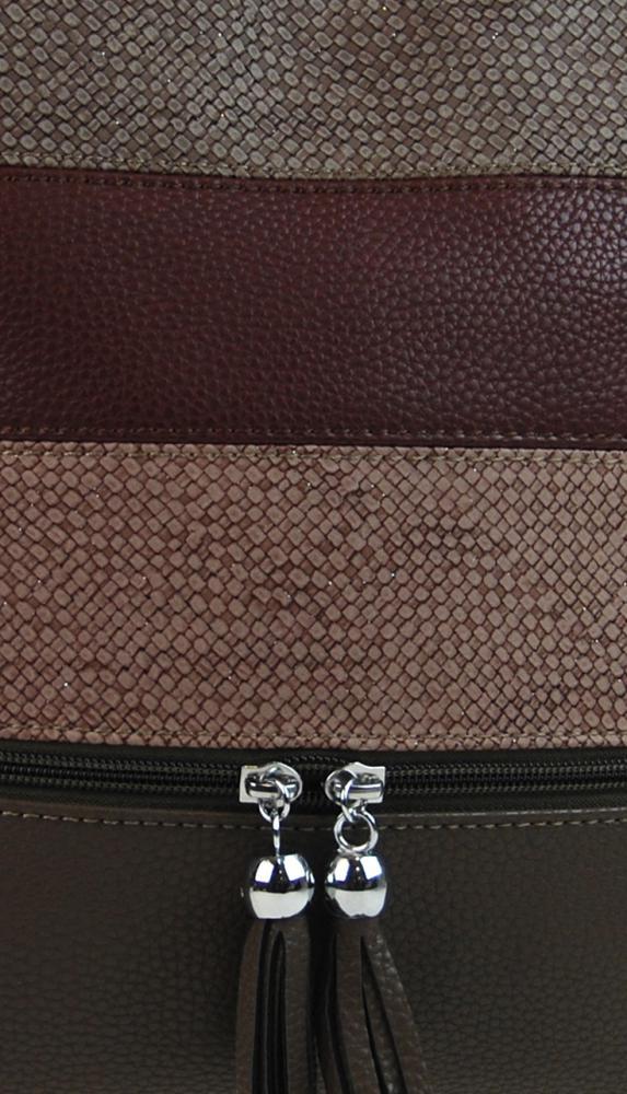 Crossbody dámská kabelka 3226-BB tmavá hnědá