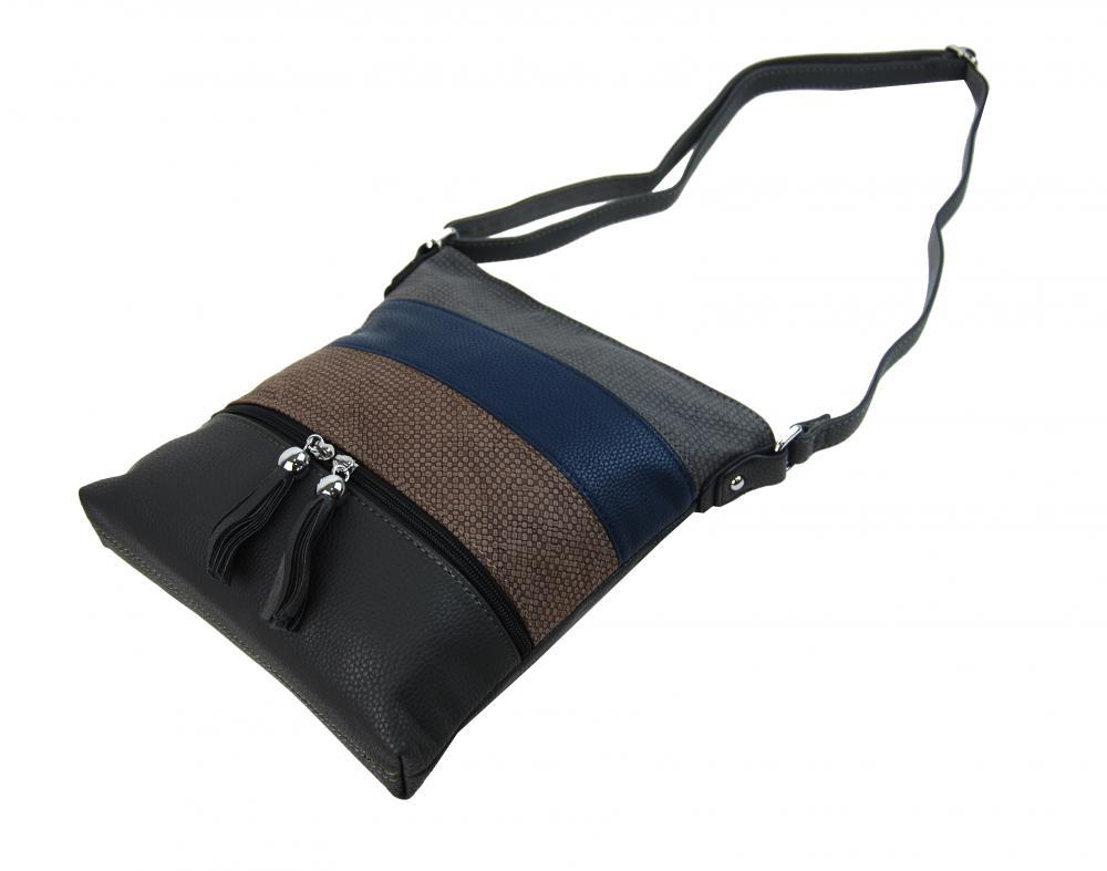 Crossbody dámská kabelka 3226-BB šedá