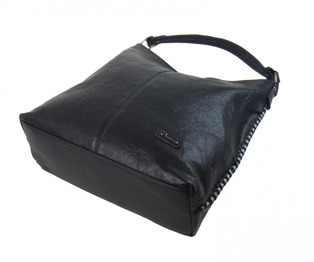 Moderní velká kabelka přes rameno 3813-DE černá