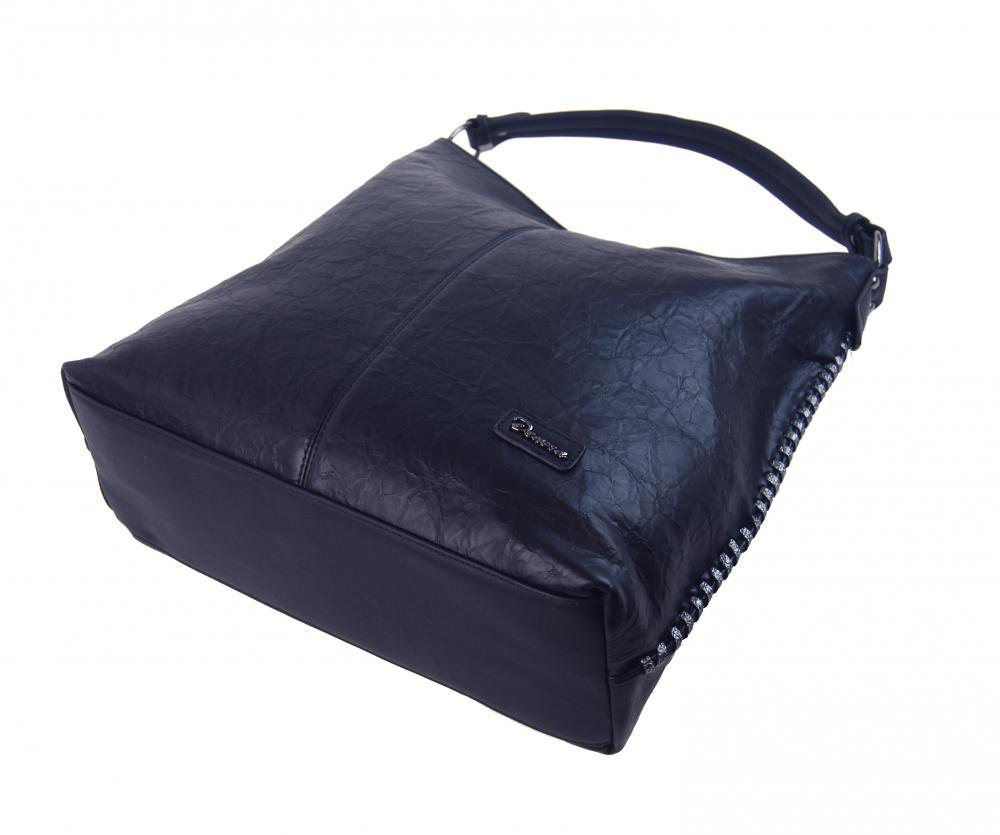 Moderní velká kabelka přes rameno 3813-DE švestkově modrá
