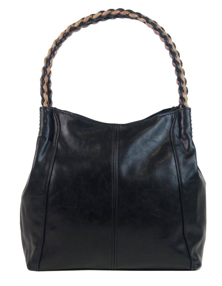 Čierna moderná kabelka cez plece 3969-BB