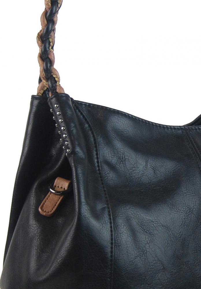 Černá moderní kabelka přes rameno 3969-BB