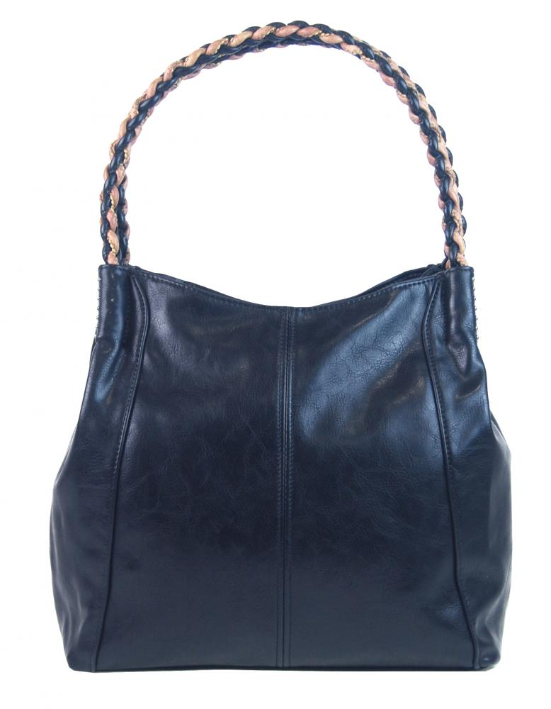 Modrá moderná kabelka cez plece 3969-BB