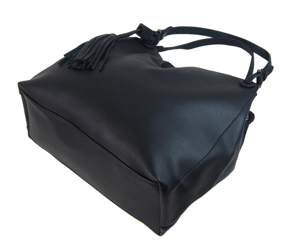 Čierna moderná kabelka cez plece 3990-BB