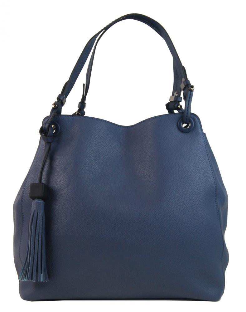 Modrofialová moderná kabelka cez plece 3990-BB