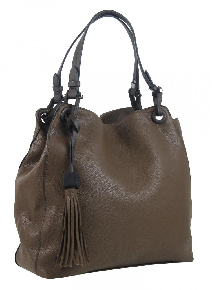 Ílovo hnedá moderná kabelka cez plece 3990-BB