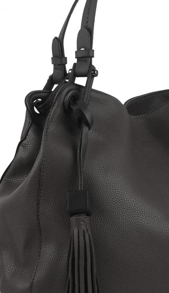 Šedá moderní kabelka přes rameno 3990-BB