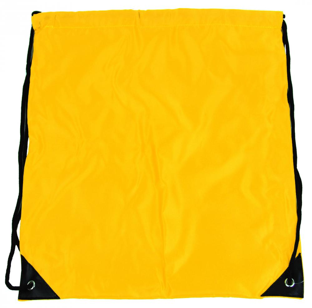 Vrecúško do telocviku / na cvičky jednofarebný sťahovateľný žltý 3H02