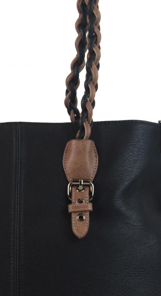 Černá větší kabelka přes rameno 4033-BB