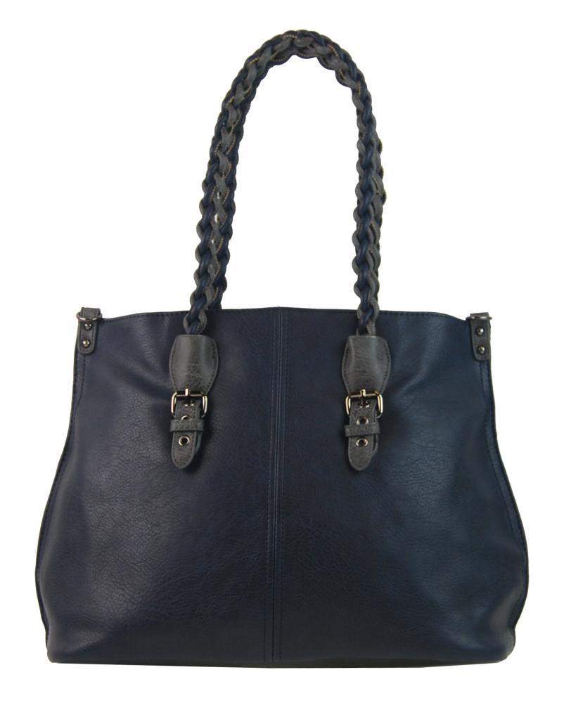 Bella Belly 4033-BB Modrá väčšia kabelka cez plece
