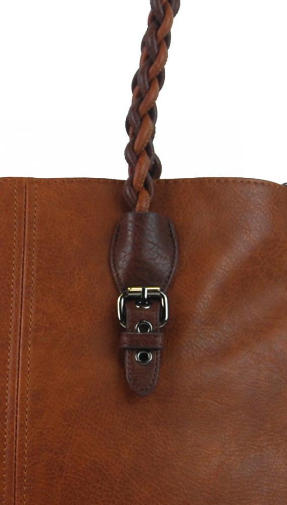 Hnedá väčšia kabelka cez plece 4033-BB  a82c3f5a569