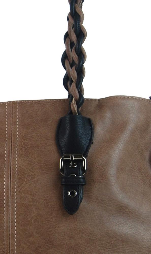 Prírodná hnedá väčšia kabelka cez plece 4033-BB  f6480276824
