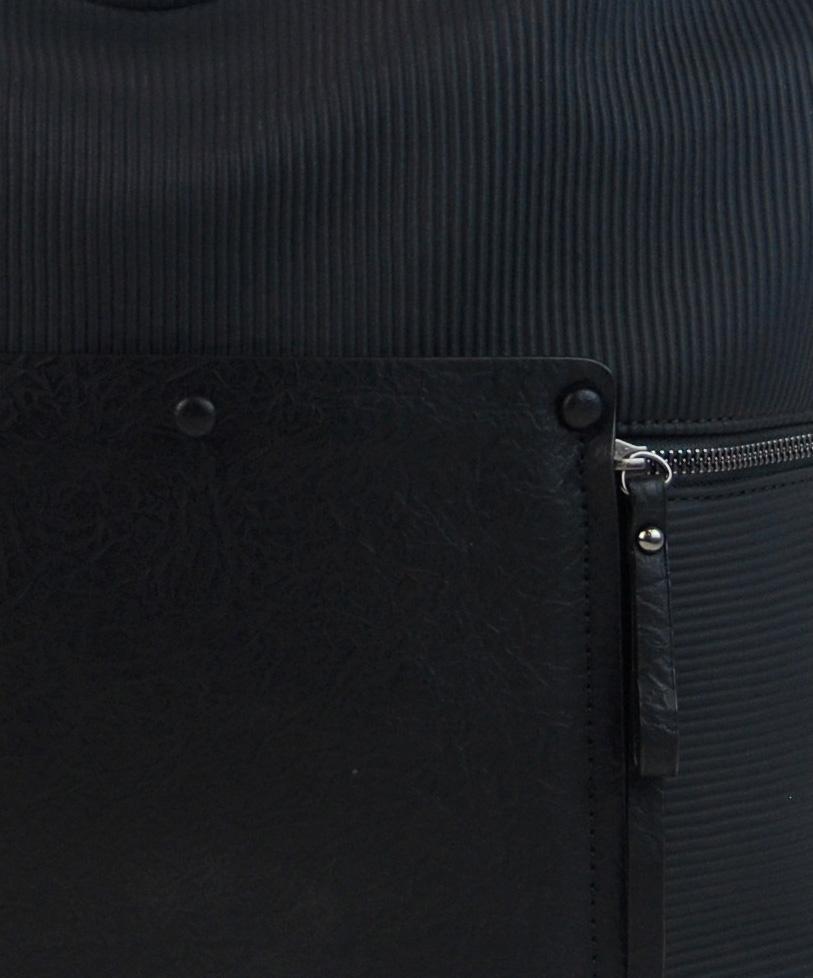 Černá velká kabelka přes rameno 4145-BB