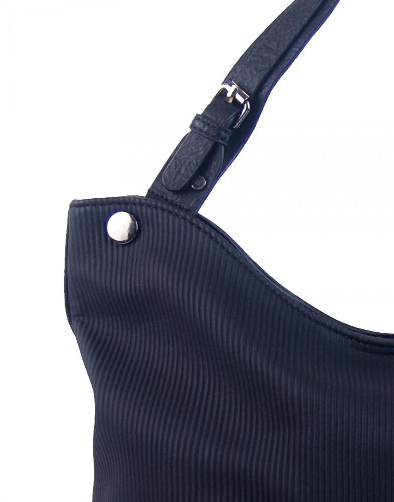 Švestkově modrá velká kabelka přes rameno 4145-BB