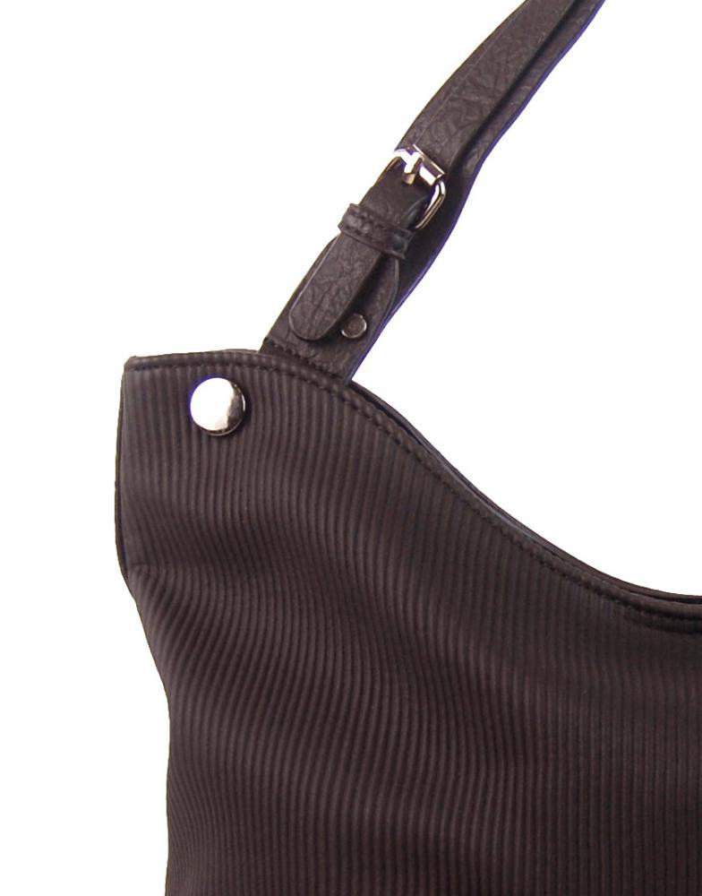 Kávovo hnedá veľká kabelka cez plece 4145-BB