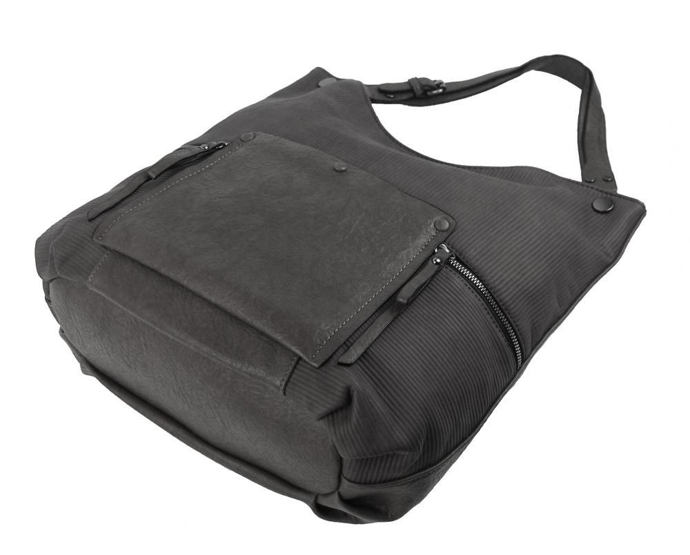 Šedá veľká kabelka cez plece 4145-BB
