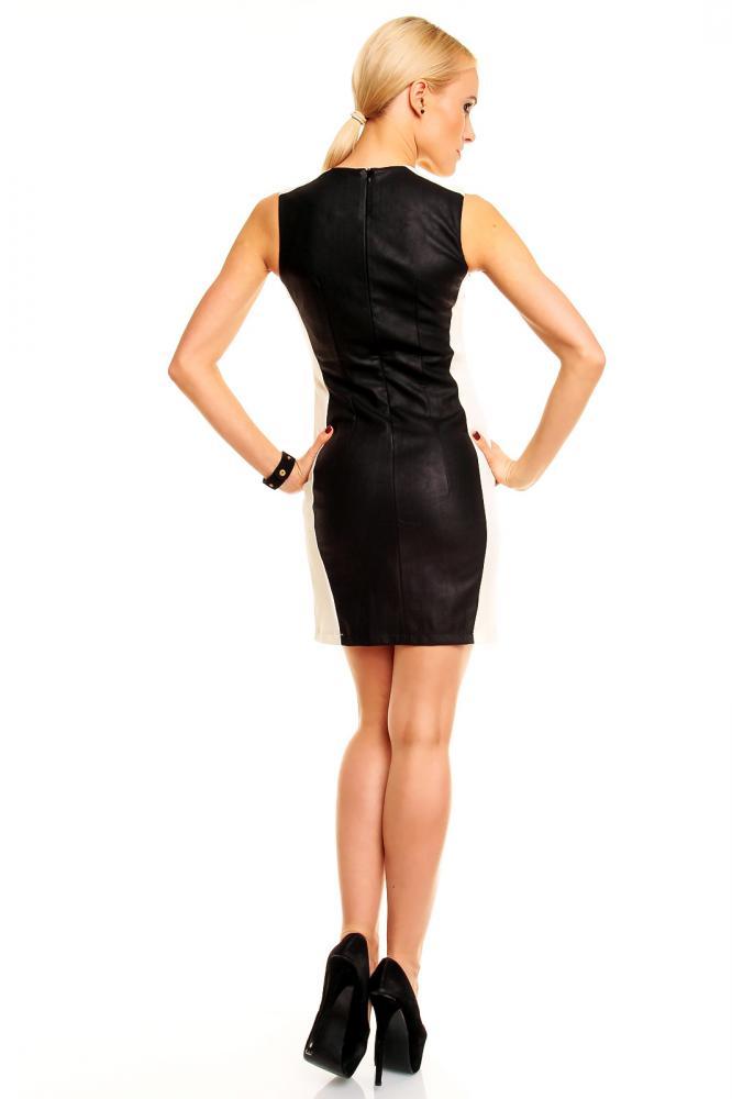Dámské letní šaty Sweewë černo-krémové velikost S