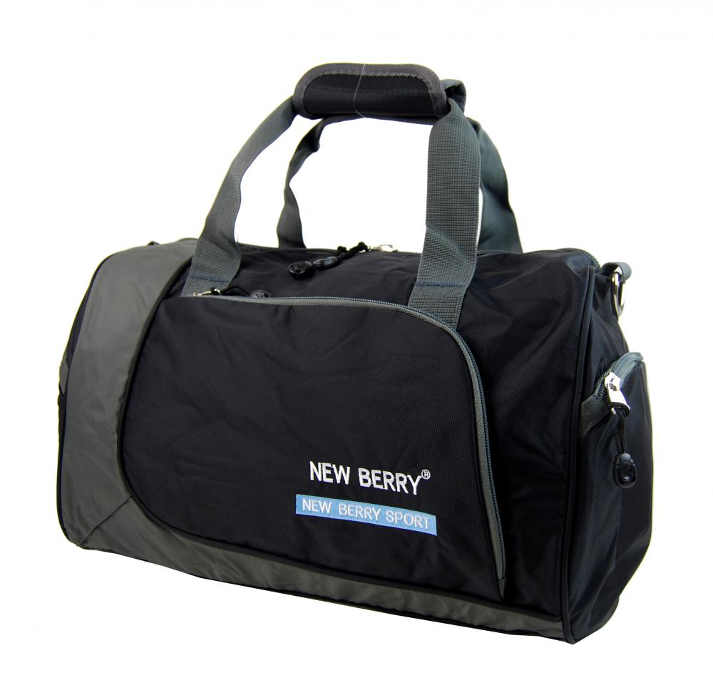 Sportovní taška New Berry 5333 černo-šedá