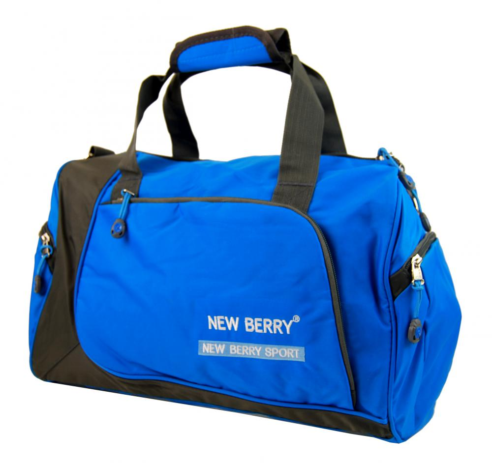 Sportovní taška New Berry 5333 modro-šedá