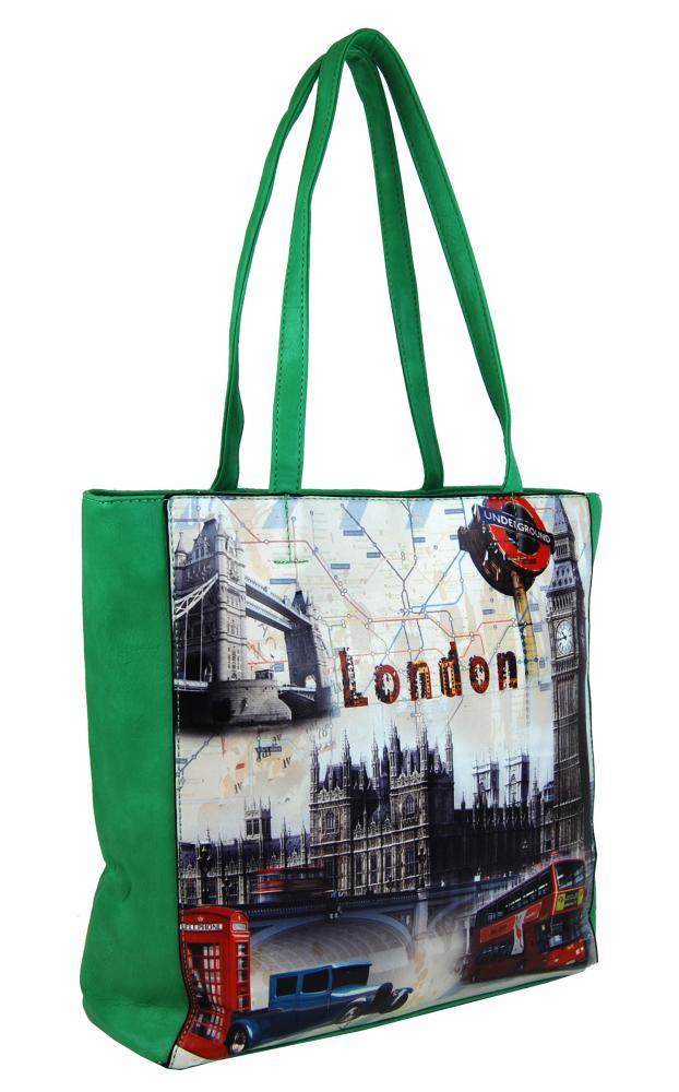 Zelená dámská kabelka London