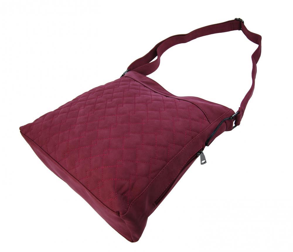 Velká červená crossbody kabelka z broušené kůže 613-3