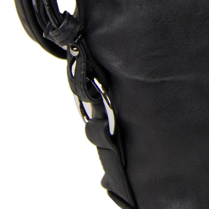 Moderná veľká crossbody kabelka 74-MH čierna