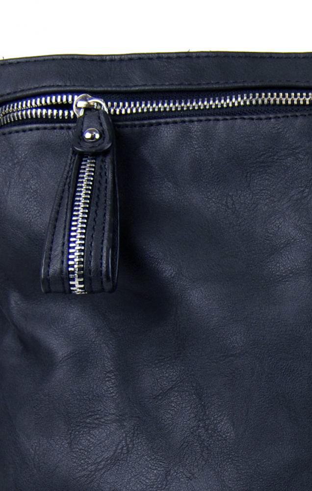 Moderní velká crossbody kabelka 74-MH modrá