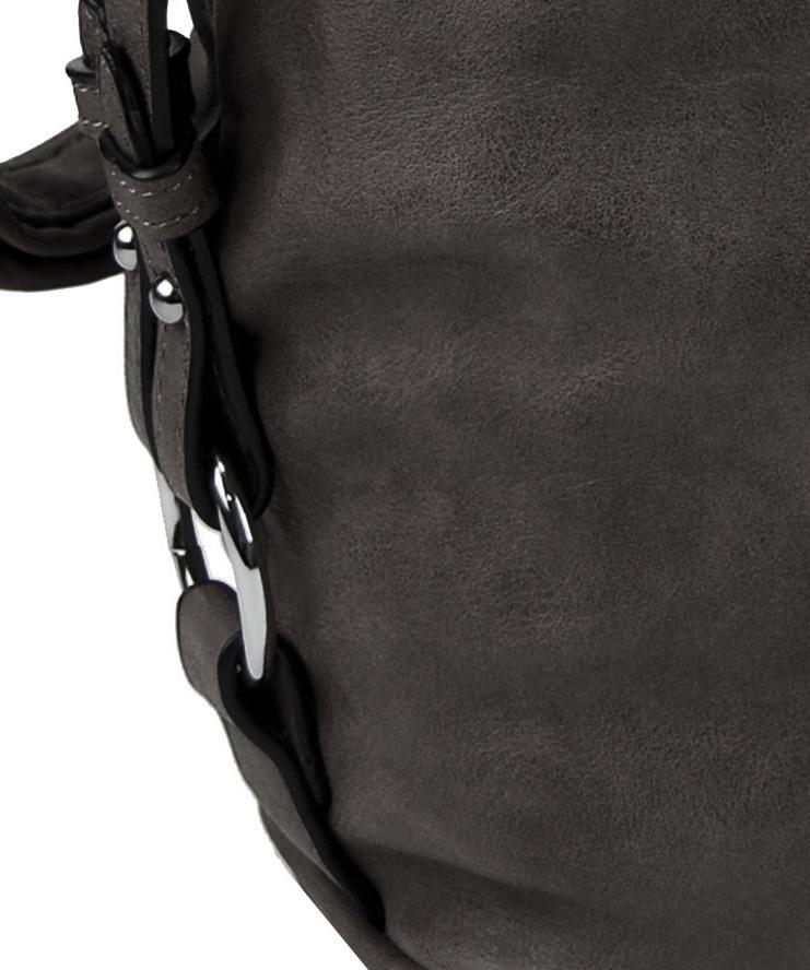 Moderní velká crossbody kabelka 74-MH tmavě šedá