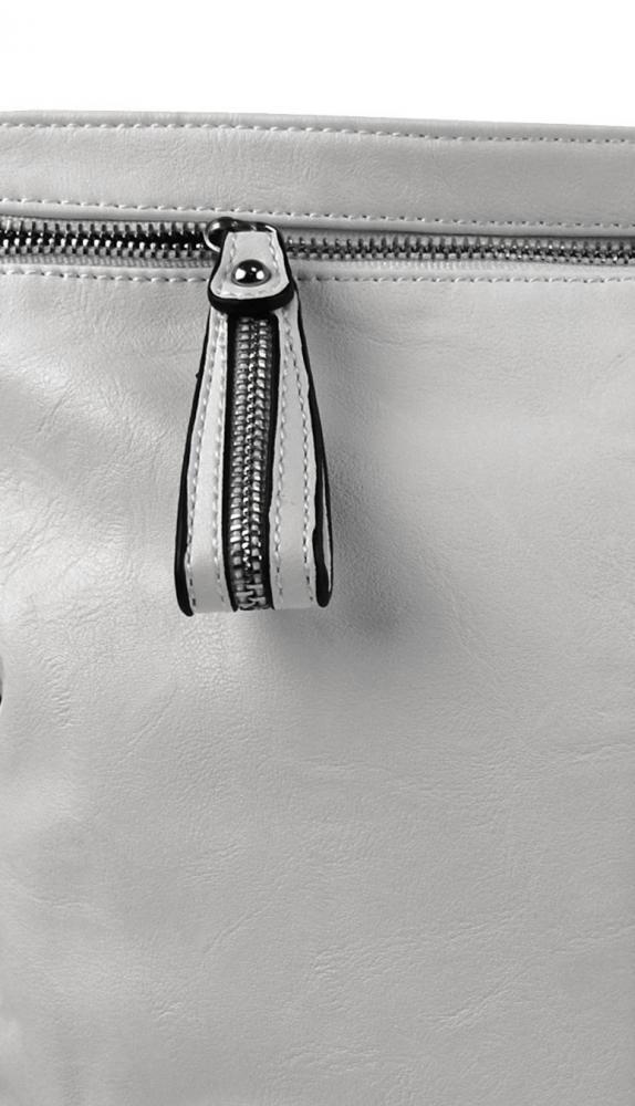 Moderná veľká crossbody kabelka 74-MH svetlo sivá
