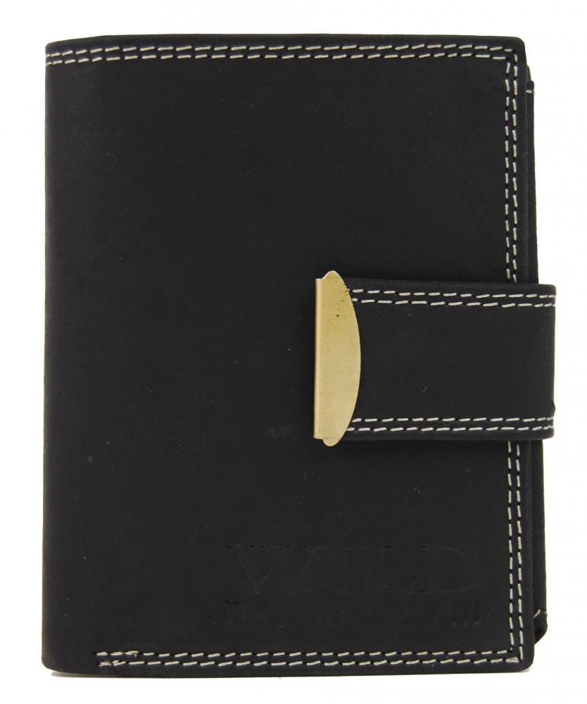 Celokožená pánska peňaženka WILD 962 čierna