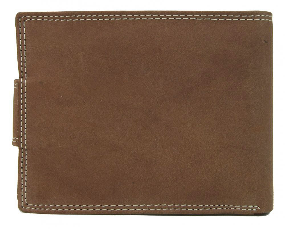 Hnedá pánska peňaženka z brúsenej kože WILD 964