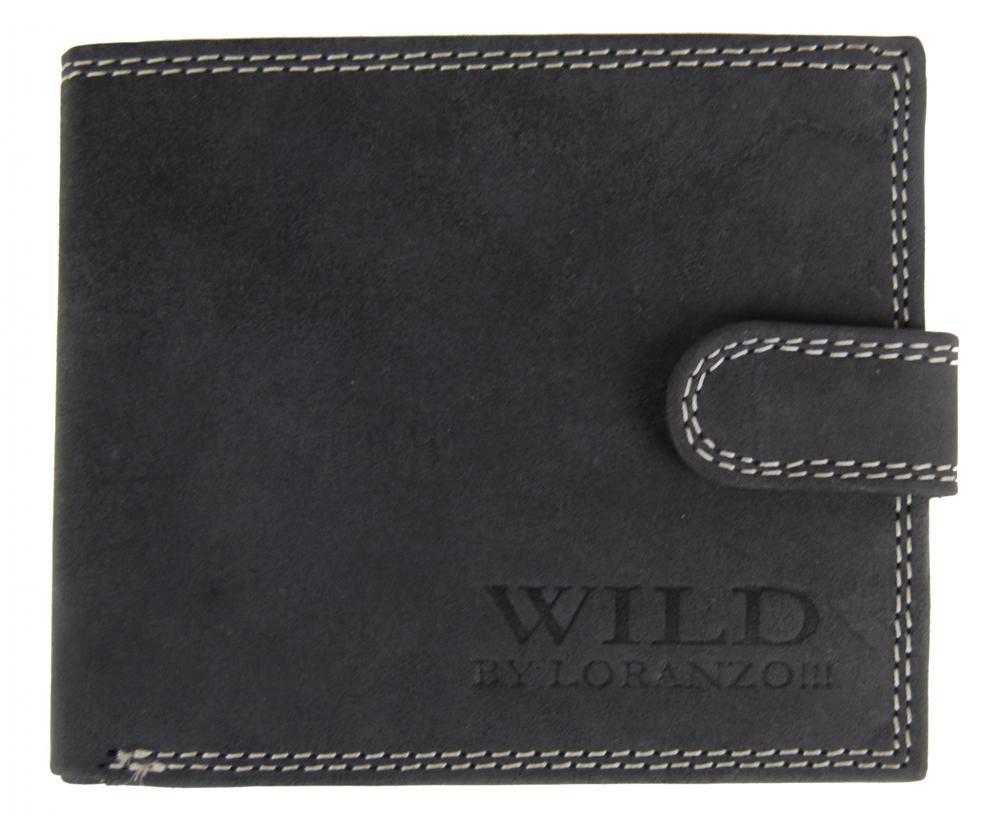 Pánska peňaženka z brúsenej kože WILD 998 tmavo šedá