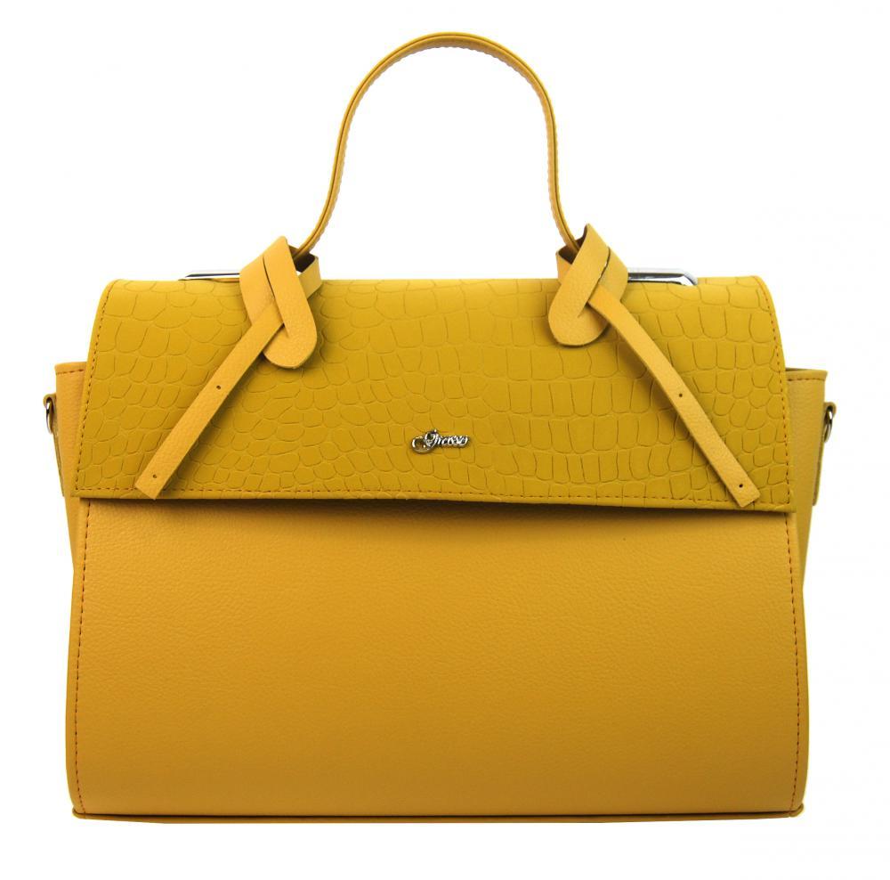 GROSSO Žlutá dámská stylová kabelka S754