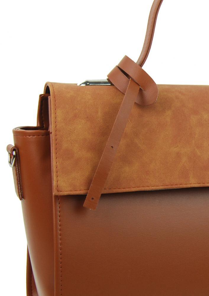 Stylová dámská kabelka S754 skořicově hnědá GROSSO