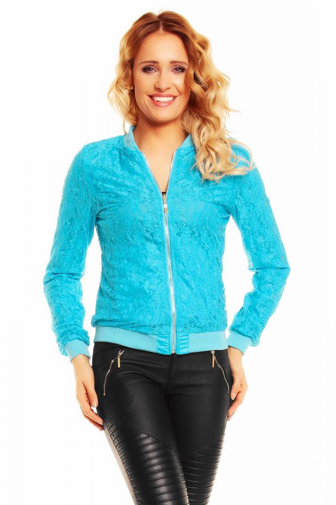 Lehká dámská oboustranná bunda Zac Zoe tyrkysová velikost M