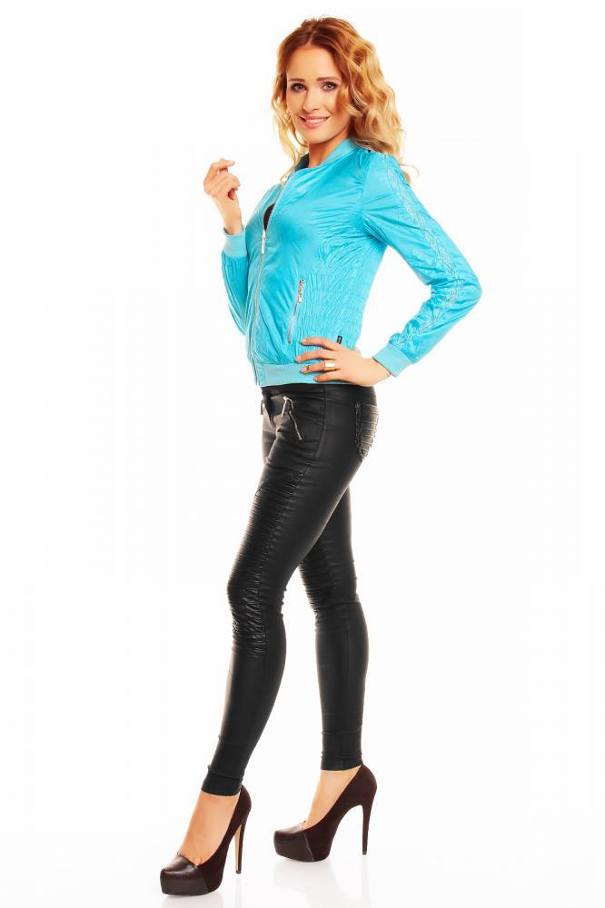Lehká dámská oboustranná bunda Zac Zoe tyrkysová