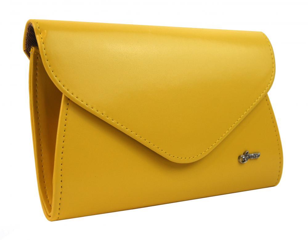 Banánově žluté matné dámské psaníčko SP126 GROSSO