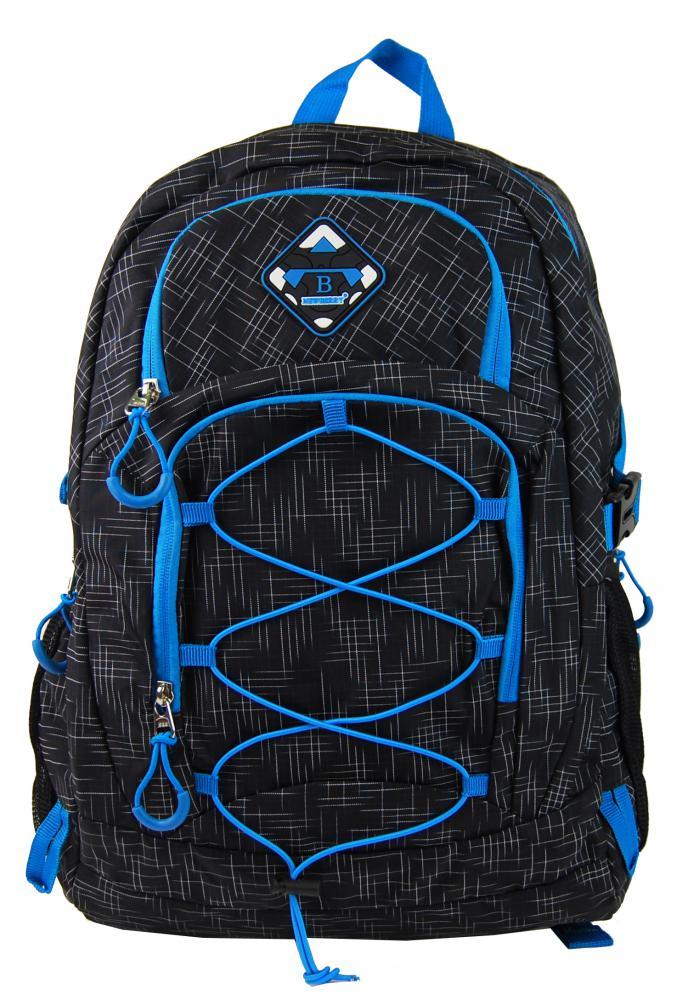 NEW BERRY Černý velký školní batoh