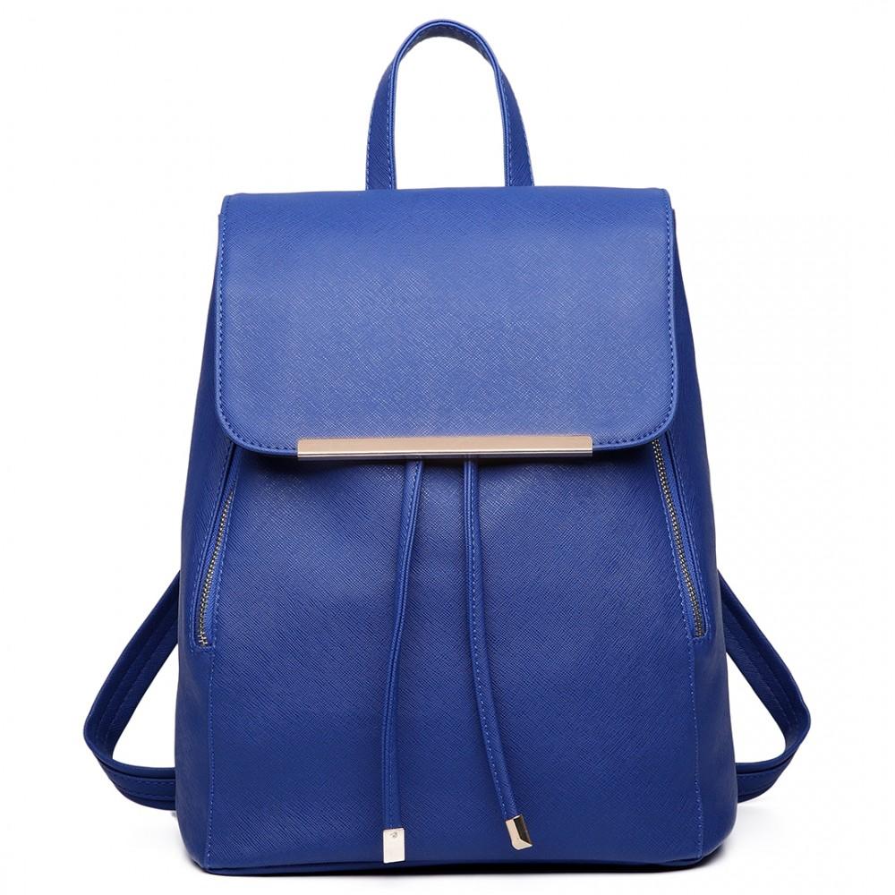 LULU BAGS Stylový dámský modní batoh E1669 modrý