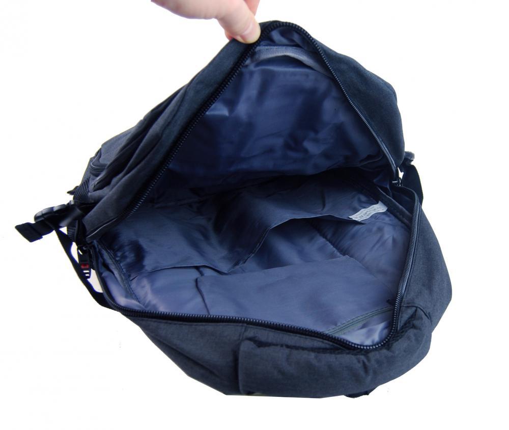 New Berry Elegantný polstrovaný školský batoh L18105 modrý