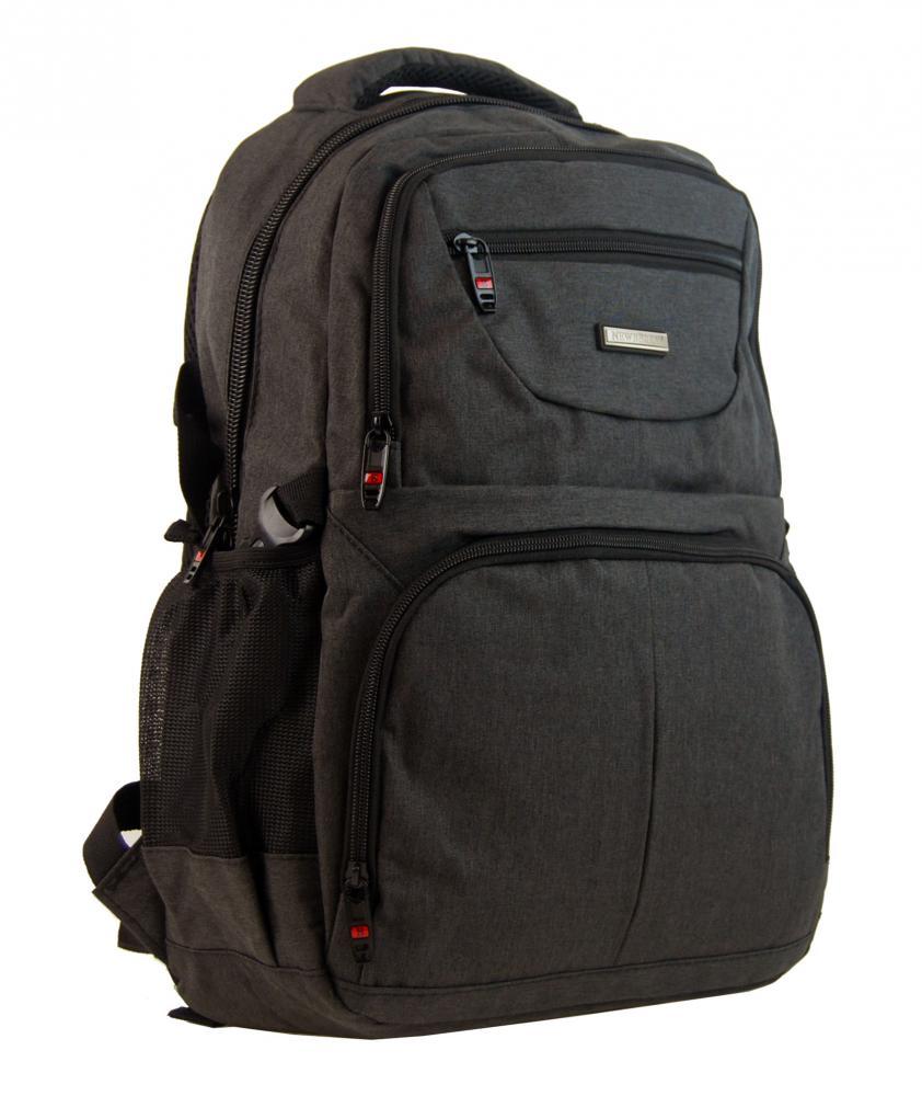 New Berry Elegantný polstrovaný školský batoh L18105 tmavo hnedý