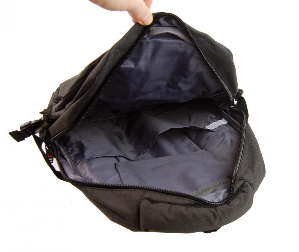 New Berry Elegantní polstrovaný školní batoh L18106 tmavě hnědý