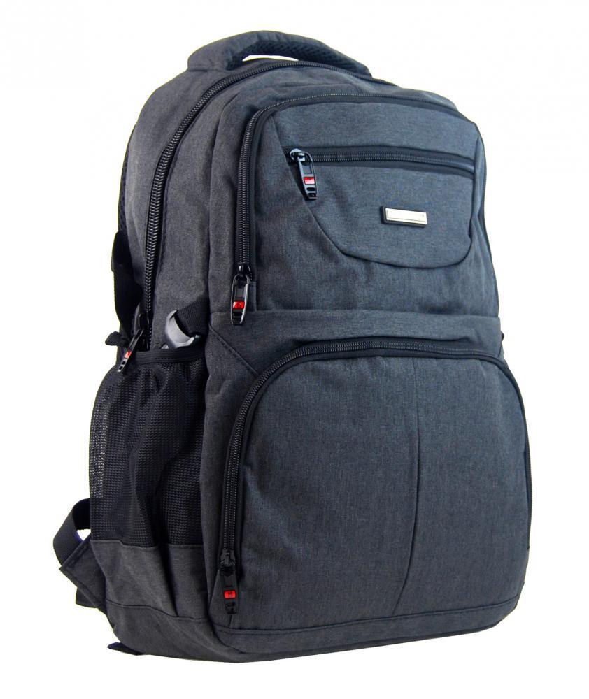 New Berry Elegantný polstrovaný školský batoh L18105 tmavo šedý
