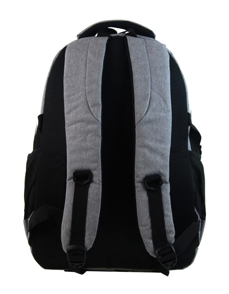 New Berry Elegantní polstrovaný školní batoh L18106 světle šedý