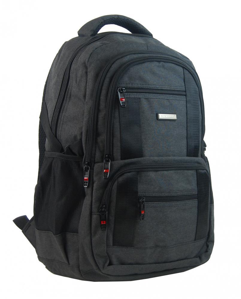 New Berry Elegantný polstrovaný školský batoh L18106 čierny