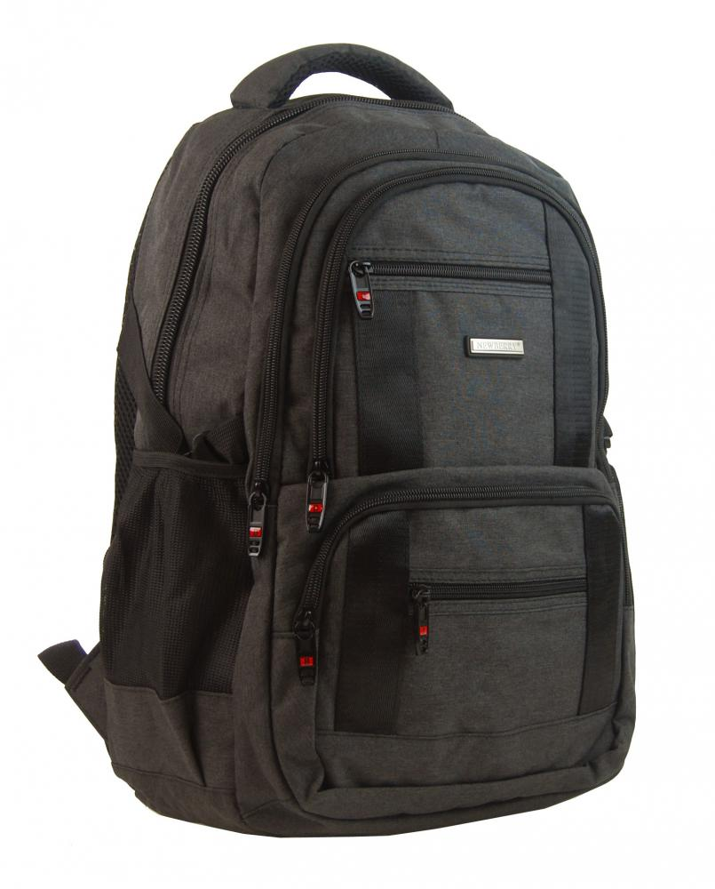 New Berry Elegantný polstrovaný školský batoh L18106 tmavo hnedý