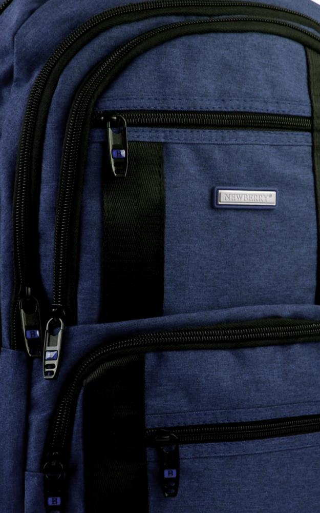 New Berry Elegantní polstrovaný školní batoh L18106 tmavě modrý