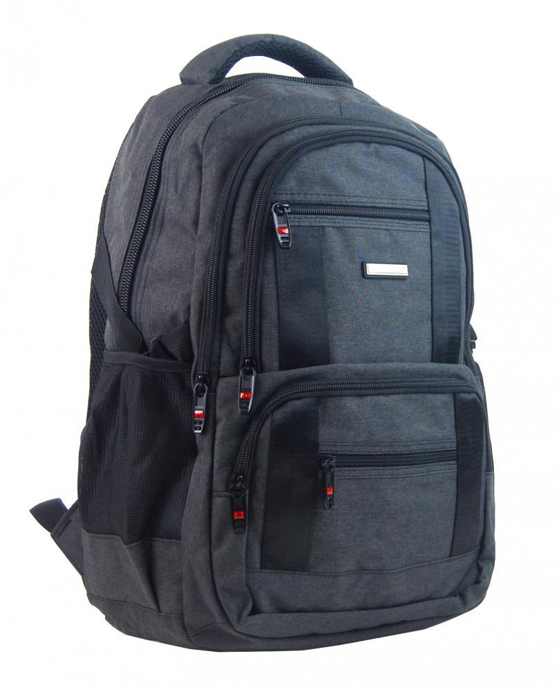 New Berry Elegantní polstrovaný školní batoh L18106 tmavě šedý